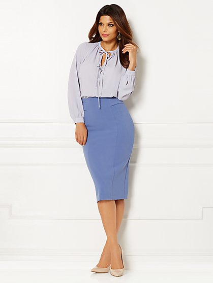 Eva Mendes Collection - Laurel Double-Tie Blouse  - New York & Company
