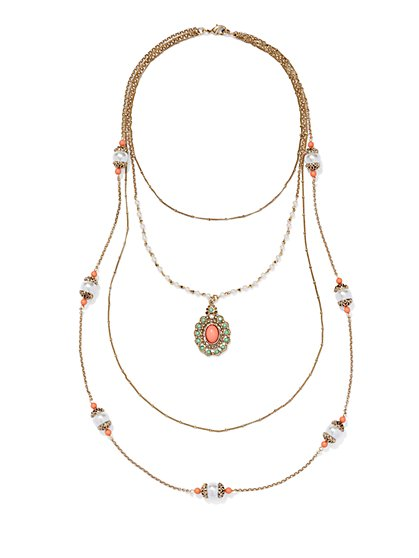 Eva Mendes Collection - Layered Pendant Necklace  - New York & Company