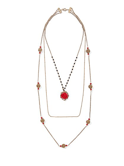 Eva Mendes Collection - Layered Rosette Necklace  - New York & Company