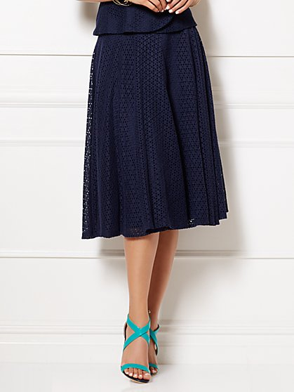 Eva Mendes Collection - Lila Eyelet Skirt  - New York & Company