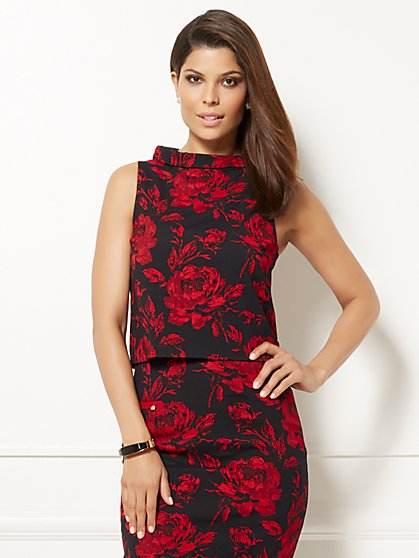 Eva Mendes Collection - Linna Crop Top - Floral  - New York & Company
