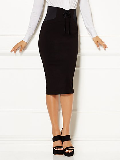 Eva Mendes Collection - Lisa Lace-Up Skirt  - New York & Company