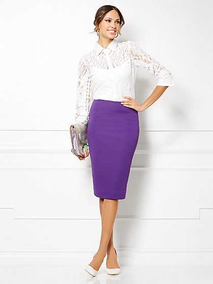 Eva Mendes Collection - Lita Lace Shirt  - New York & Company