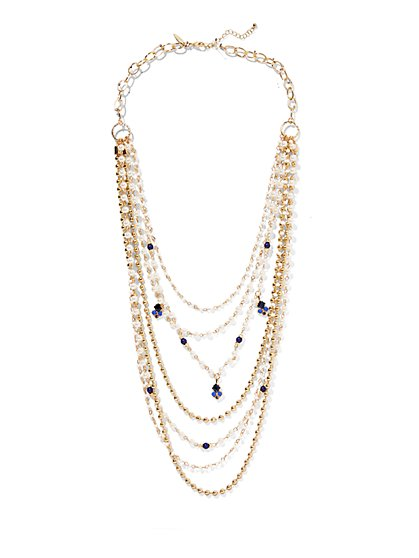 Eva Mendes Collection - Long Layered Necklace  - New York & Company