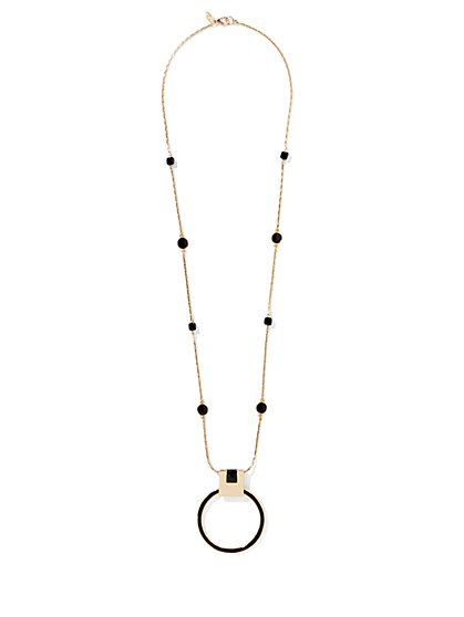 Eva Mendes Collection - Long Pendant Necklace  - New York & Company