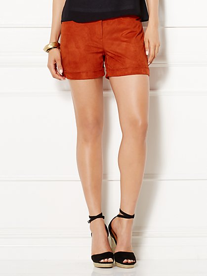 Eva Mendes Collection - Lottie Ultra-Suede Short  - New York & Company