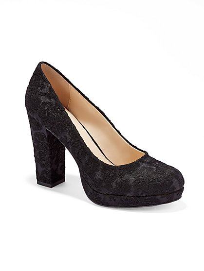 Eva Mendes Collection - Lucca Platform Pump  - New York & Company