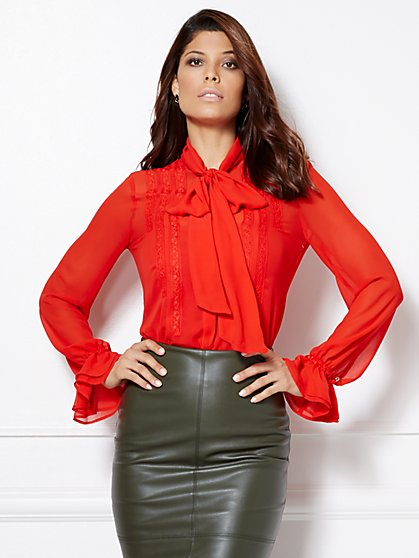 Eva Mendes Collection - Luciana Bow Blouse  - New York & Company