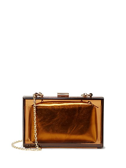 Eva Mendes Collection - Lucite Clutch - New York & Company