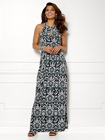 Eva Mendes Collection - Luna Maxi Dress - Print  - New York & Company