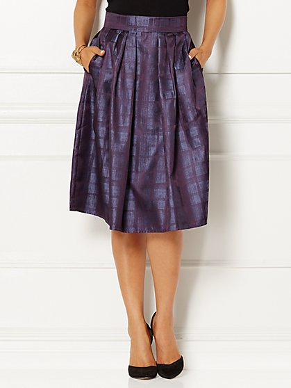 Eva Mendes Collection - Maddie Full Skirt - Plaid  - New York & Company