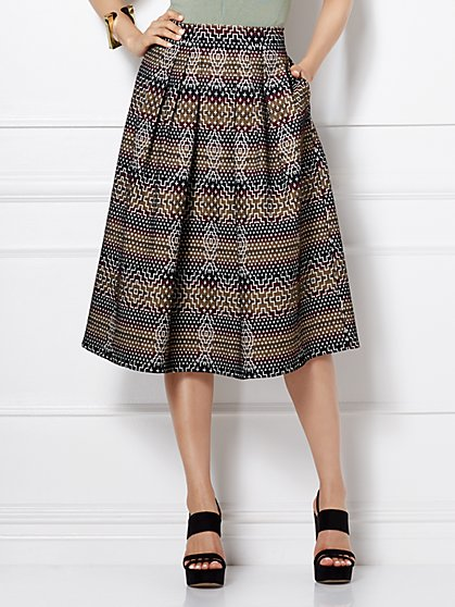 Eva Mendes Collection - Maddie Skirt - Graphic Print - New York & Company