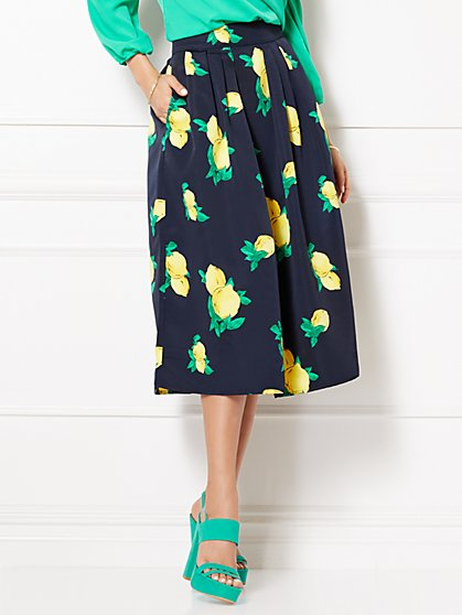 Eva Mendes Collection - Maddie Skirt - Lemon Print - New York & Company