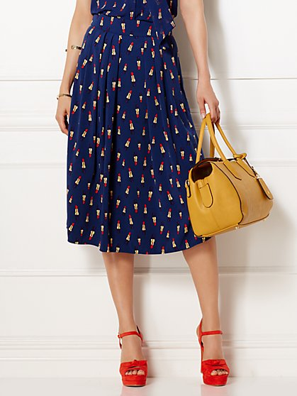 Eva Mendes Collection - Maddie Skirt - Lipstick Print  - New York & Company
