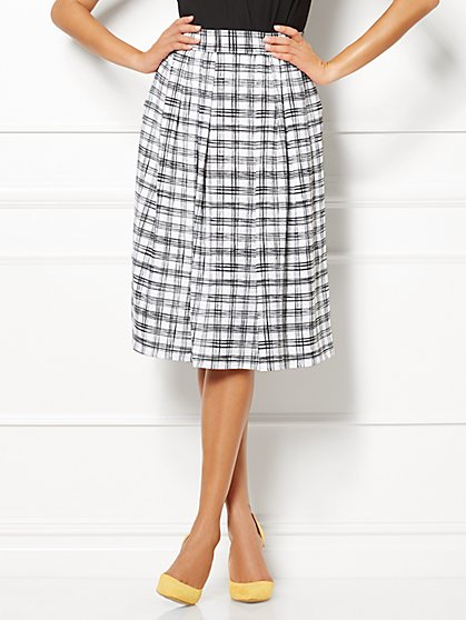 Eva Mendes Collection - Maddie Skirt - Plaid  - New York & Company
