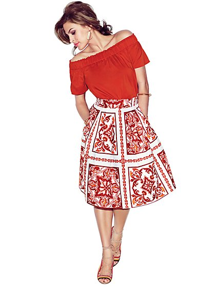 Eva Mendes Collection - Maddie Skirt - Print  - New York & Company