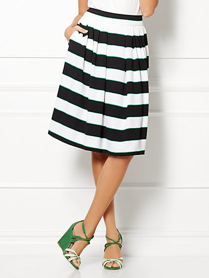 Eva Mendes Collection - Maddie Skirt - Striped - New York & Company