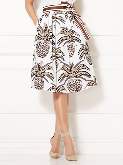 Eva Mendes Collection - Maddie Skirt - White - New York & Company