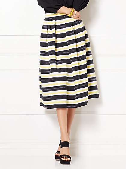 Eva Mendes Collection - Maddie Stripe Skirt - New York & Company