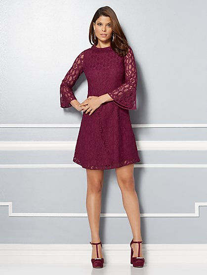 Eva Mendes Collection - Marcelina Bell-Sleeve Lace Dress - New York & Company