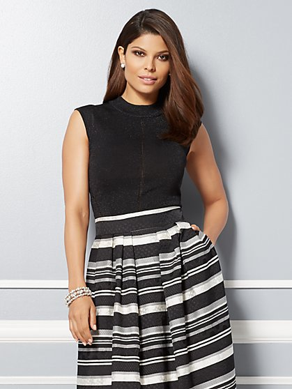 Eva Mendes Collection - Mari Sleeveless Lurex Sweater  - New York & Company
