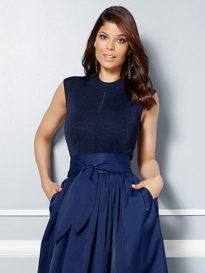 Eva Mendes Collection - Mari Sleeveless Lurex Sweater  - New York & Company