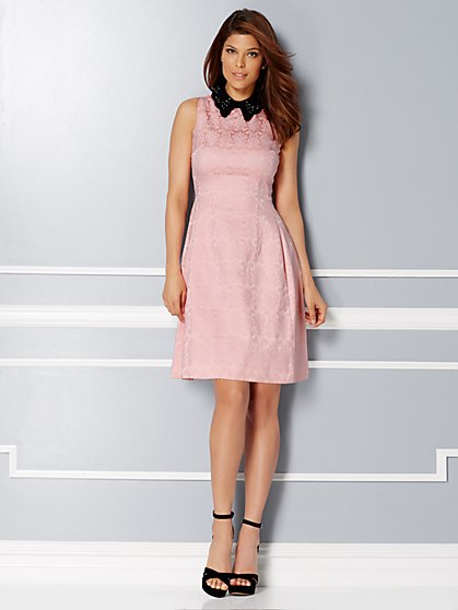 Eva Mendes Collection - Maria Collared Jacquard Dress - New York & Company