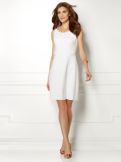 Eva Mendes Collection - Maria Dress  - Paper White - New York & Company