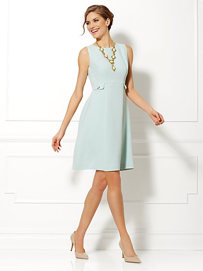 Eva Mendes Collection - Maria Flare Dress - Mint - New York & Company
