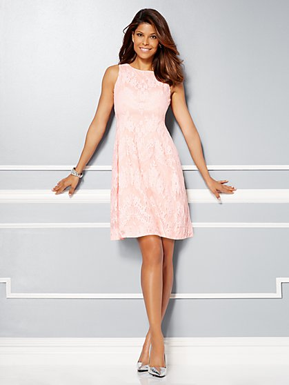 Eva Mendes Collection - Maria Floral Lace Dress   - New York & Company
