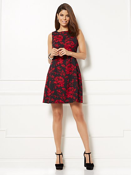 Eva Mendes Collection - Maria Jacquard Dress - Floral - New York & Company