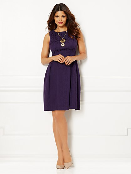 Eva Mendes Collection - Maria Jacquard Dress - Petite  - New York & Company