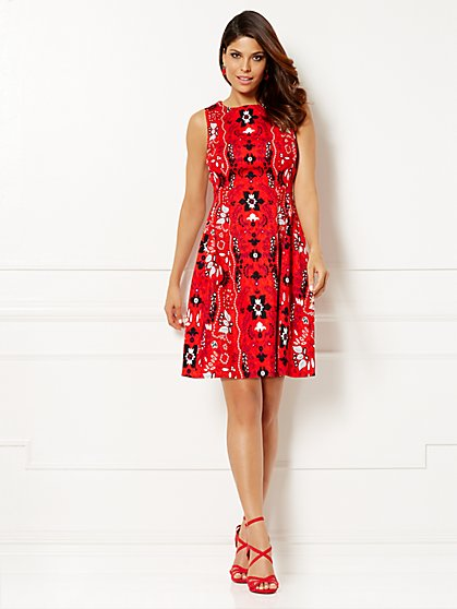 Eva Mendes Collection - Maria Jacquard Dress - Print - New York & Company