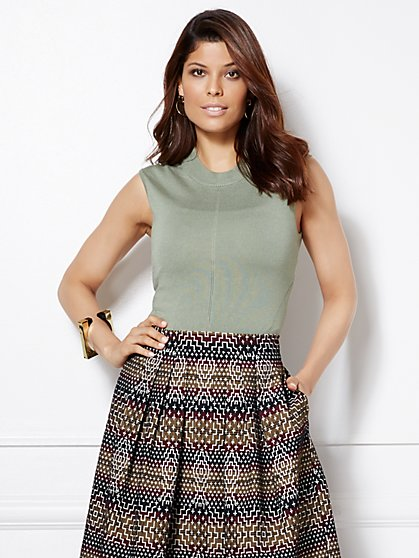 Eva Mendes Collection - Marianna Knit Shell  - New York & Company