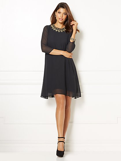 Eva Mendes Collection - Maribel Dress - Black  - New York & Company