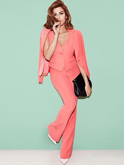 Eva Mendes Collection - Mariel Mid-Rise Fit & Flare Pant - Tall  - New York & Company