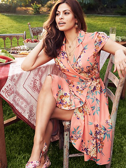 Eva Mendes Collection - Marina Wrap Dress - New York & Company