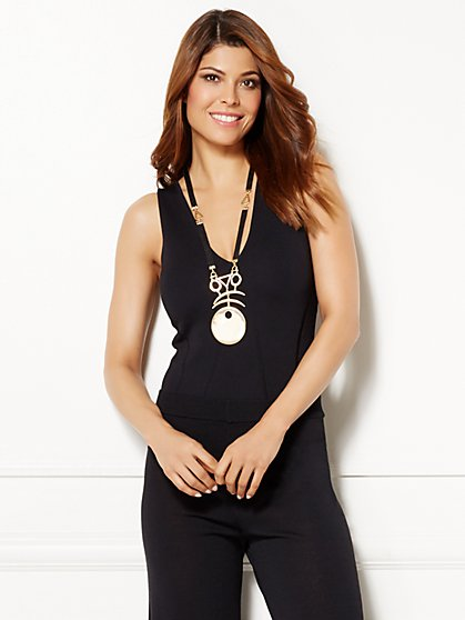 Eva Mendes Collection - Marissa Knit Bodysuit  - New York & Company