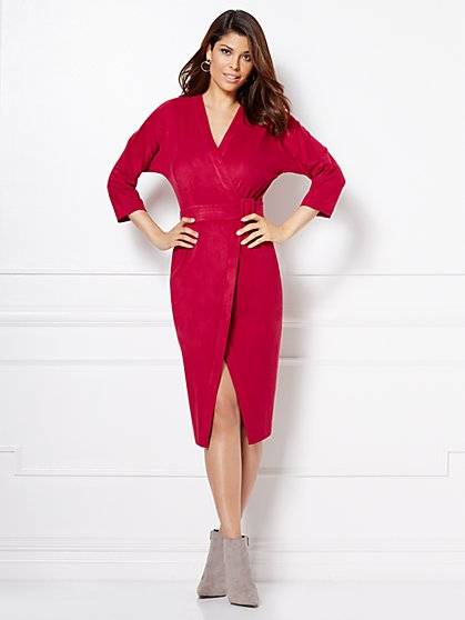 Eva Mendes Collection - Martina Ultra-Suede Wrap Dress  - New York & Company