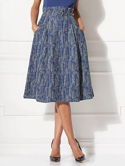 Eva Mendes Collection - Matilda Paper Bag-Waist Midi Skirt - New York & Company