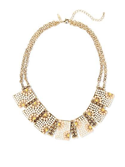 Eva Mendes Collection - Metallic Geo Collar Necklace  - New York & Company