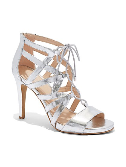 Eva Mendes Collection - Metallic Strappy Sandal  - New York & Company