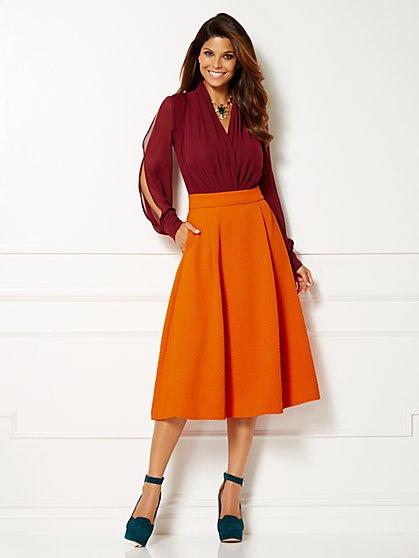 Eva Mendes Collection - Mila Cold-Shoulder Bodysuit  - New York & Company