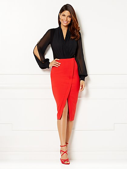 Eva Mendes Collection - Mila Open-Sleeve Bodysuit  - New York & Company