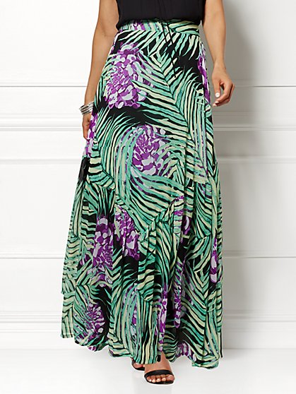 Eva Mendes Collection - Miranda Maxi Skirt - Print   - New York & Company