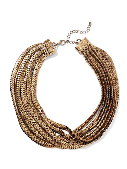 Eva Mendes Collection  - Multi-Row Chain Link Necklace  - New York & Company