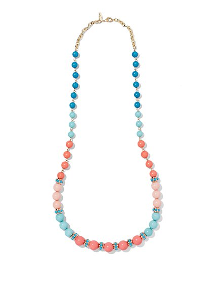 Eva Mendes Collection - Multicolor Bead Necklace  - New York & Company