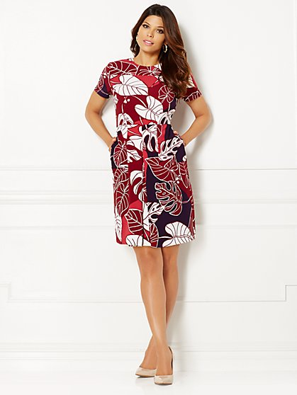 Eva Mendes Collection - Nadia Flare Dress - Print - Petite  - New York & Company