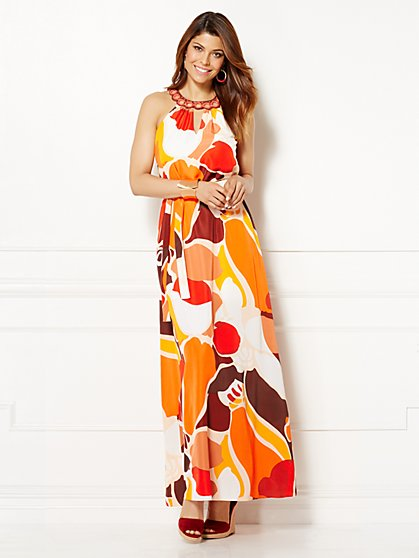 Eva Mendes Collection - Naomi Embroidered Maxi Dress - New York & Company