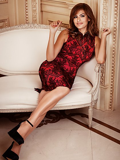 Eva Mendes Collection - Natasha Lace Sheath Dress - Petite   - New York & Company